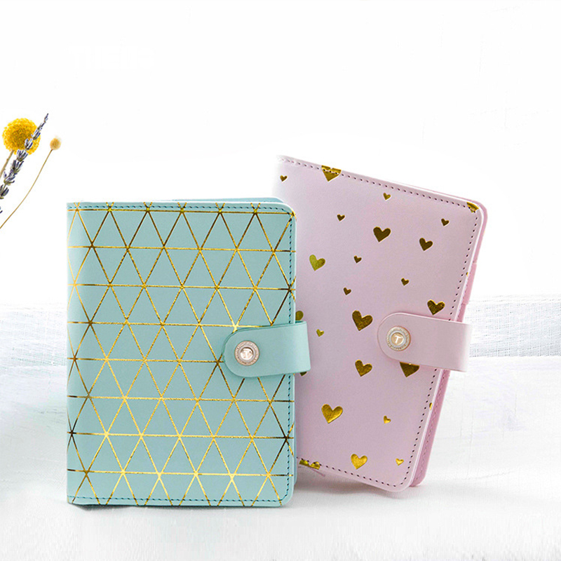 JUNHUI Notebook Polka Dot Pattern Abstract Handbook Hardcover A6 Japanese Creative Eco PU Leather Notebook Notepad Leather Cover цена и фото