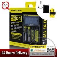2018 Brand Nitecore D4 Digicharger LCD Intelligent Circuitry Global Insurance Li Ion 18650 14500 16340 26650