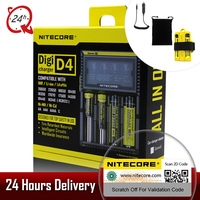 2018 Brand Nitecore D4 Digicharger LCD Intelligent Circuitry Global Insurance Li Ion 18650 14500 16340 26650