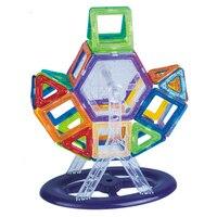 Novo Mini Ímã Conjunto Modelo de Construção Designer & Brinquedo de Construção de Plástico Blocos Magnéticos Brinquedos Educativos Para Crianças Presente de Natal