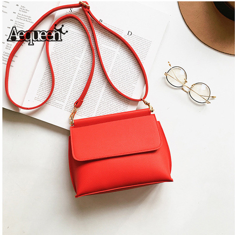 AEQUEEN Small Women Shoulder Messenger Bags Vintage Crossbody Bag PU Leather Flap Satchel Casual Mini Cute Bolsa Feminina Ladies women cute pattern small shoulder bag crossbody messenger fashion bags new design pu leather shoulder bags bolsa feminina