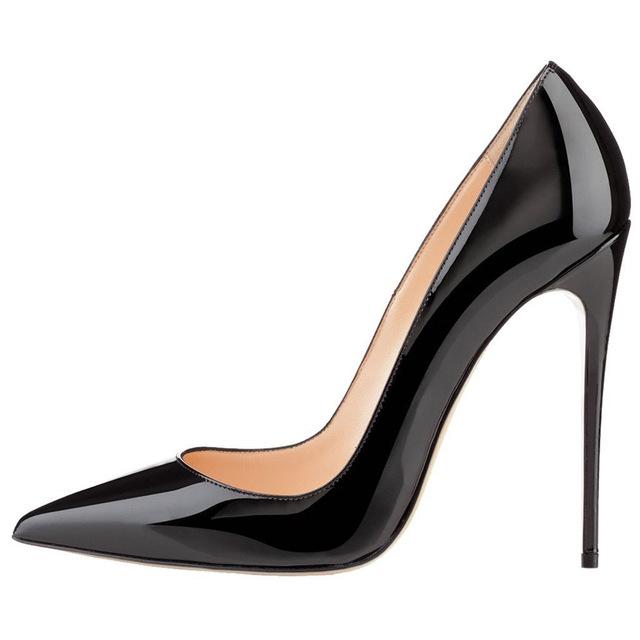 Four season mujeres bombea zapatos de tacón alto 2017 moda dedo del pie acentuado de las mujeres zapatos de tacones finos bombas inferiores Rojos únicos zapatos de tacón alto bombas desnudas