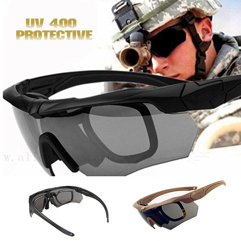 ddd9affffdc5d Nouvelles lunettes AirsoftSports UV400 militaire balistique pare-balles  armée lunettes de soleil tactique vue Camping vélo lunettes de chasse