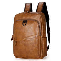 Fashion Men Backpack Waterproof PU Leather Travel Bag Man Large Capacity Teenager Male Mochila Laptop Backpacks