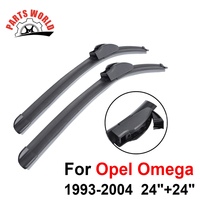 24 24 Pair Windscreen Front Wiper Blades For Opel Omega 1993 2004 Fit Windshield Natural Rubber