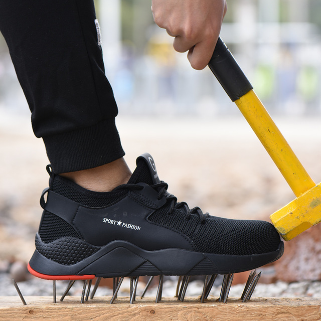 Men Steel Toe Work Safety Shoes Casual Breathable Outdoor Sneakers Puncture Proof Boots Comfortable Industrial Shoes For Men