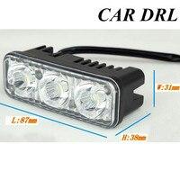 Best Selling Auto Lamp White Daytime Running Light Source Waterproof DC12V DRL 2PCS SET 6 LED