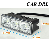 Best Selling Auto Lamp White Daytime Running Light Source Waterproof DC12V DRL 2PCS SET 6 LED