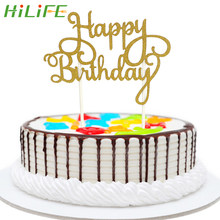 HILIFE Happy Birthday Cake Flags Gadgets For Family Birthday Party Cake Tools Baking Decoration Double Stick(China)