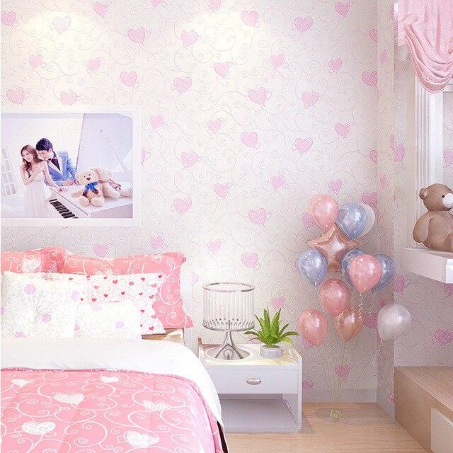 Cartoon non woven slaapkamer behangpapier, foto achtergrond voor ...