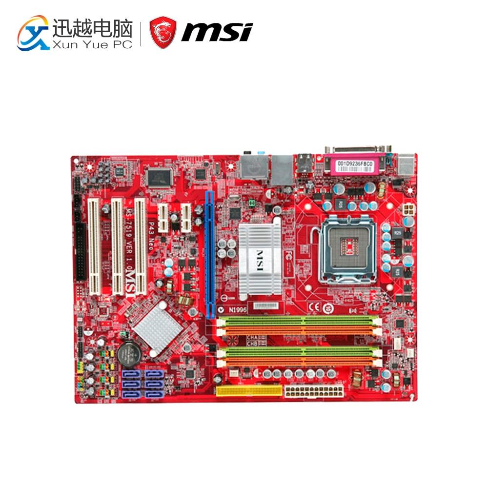 цена MSI P43 Neo-F Desktop Motherboard P43 Socket LGA 775 DDR2 16G SATA2 USB2.0 ATX