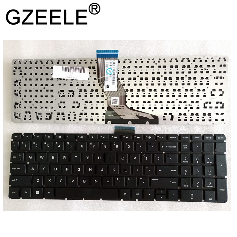 GZEELE For <font><b>HP</b></font> <font><b>250</b></font> <font><b>G6</b></font> 255 <font><b>G6</b></font> 256 <font><b>G6</b></font> 258 <font><b>G6</b></font> Series English Laptop <font><b>Keyboard</b></font> US Black Without Frame image