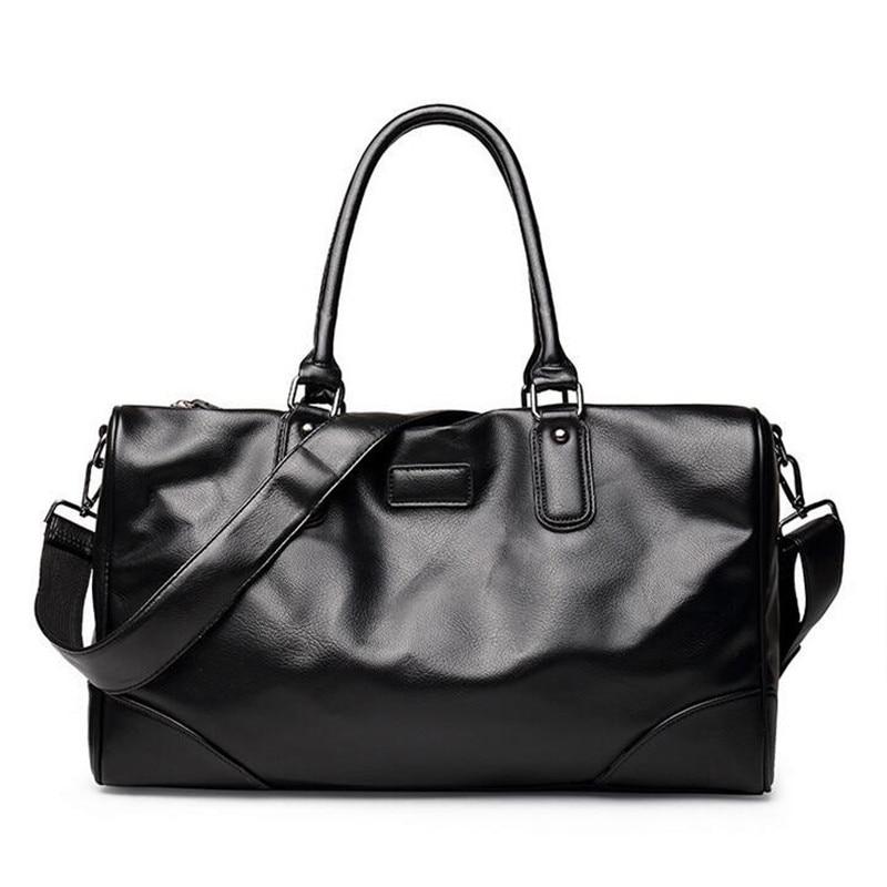 bolsa feminina High Quality Men Travel Bags Fashion Luggage Duffle Bag  Business Casual Valise Leather Travel bfe5e598c12ed