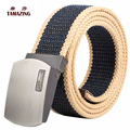 All-match male casual canvas belt automatic buckle teenage outdoor canvas strap belt 110/120/130/140/160cm tactical belt