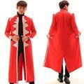 Los hombres de Los Hombres de Moda Rhinestones Chaqueta Roja Masculina Dj Cantante Chaqueta Hombre Abrigo Desgaste puesta en Escena de Jazz Hip-Hop Trajes Outwear