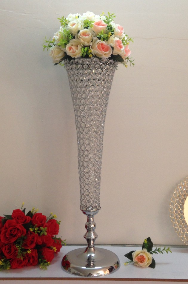 Popular crystal wedding centerpiece buy cheap crystal for Decoration none