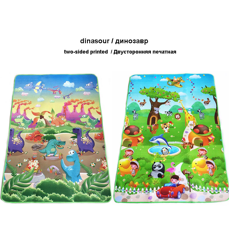 0 5cm Double Side Baby Crawling Play Mat Dinosaur Puzzle Game Gym Soft Floor Eva Foam 0.5cm Double-Side Baby Crawling Play Mat Dinosaur Puzzle Game Gym Soft Floor Eva Foam Children Carpet for Babies KidsToys