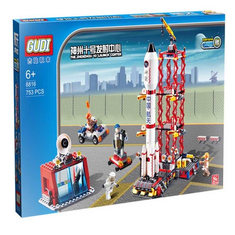 GUDI 8816 Blocks Shenzhou Series Spacecraft Launch On The 10th Children Fight Inserted Blocks Toys Children's Best Holiday Gifts
