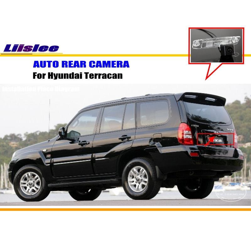 Liislee Car Rear View Camera For Hyundai Terracan / Reverse Camera / HD CCD RCA NTST PAL / License Plate Light Camera