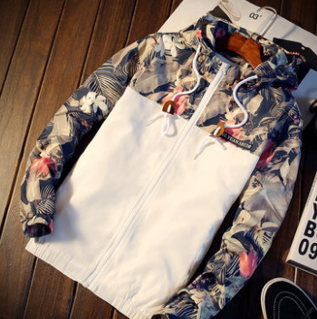 2020  Men Cultivate One's Morality Even Cap Printed Tide Leisure Jacket Splicing Camouflage Is Prevented Bask In Clothes