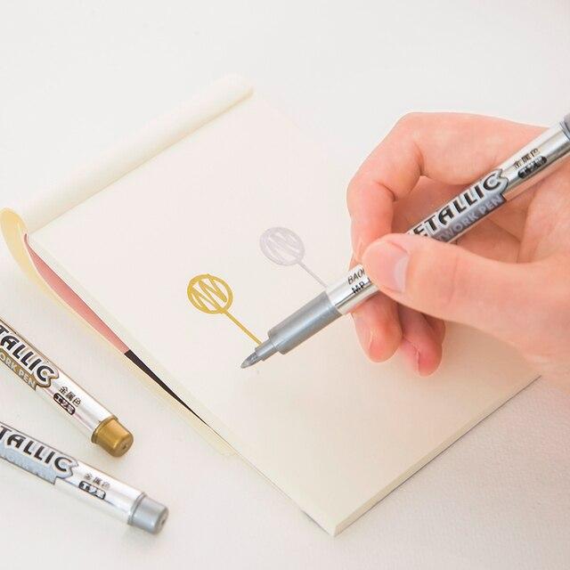BAOKE 1.5mm metal invitation cards oil pen DIY album graffiti pen sign mark pen
