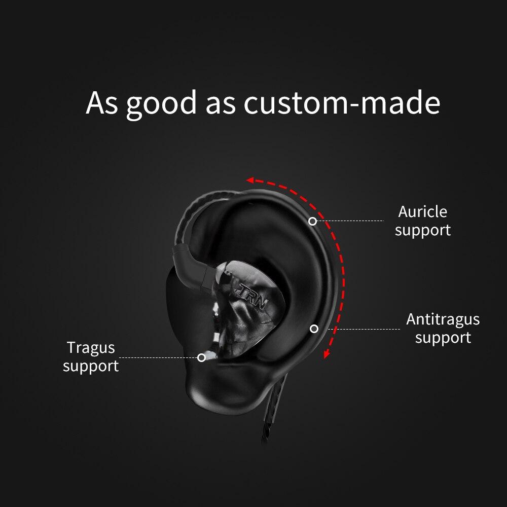 Image 5 - AK TRN X6 6BA Balanced Armature In Ear Earphone IEM HIFI DJ Monitor Running Sport Earphone Earplug Headset Headplug IM2/IM1/V80-in Phone Earphones & Headphones from Consumer Electronics