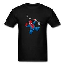 Music Box Art Spider Men Black T-shirt Hip-hop Hipster Fashion Short Sleeve Tops Tees Funny Creative Design Cartoon Clothes