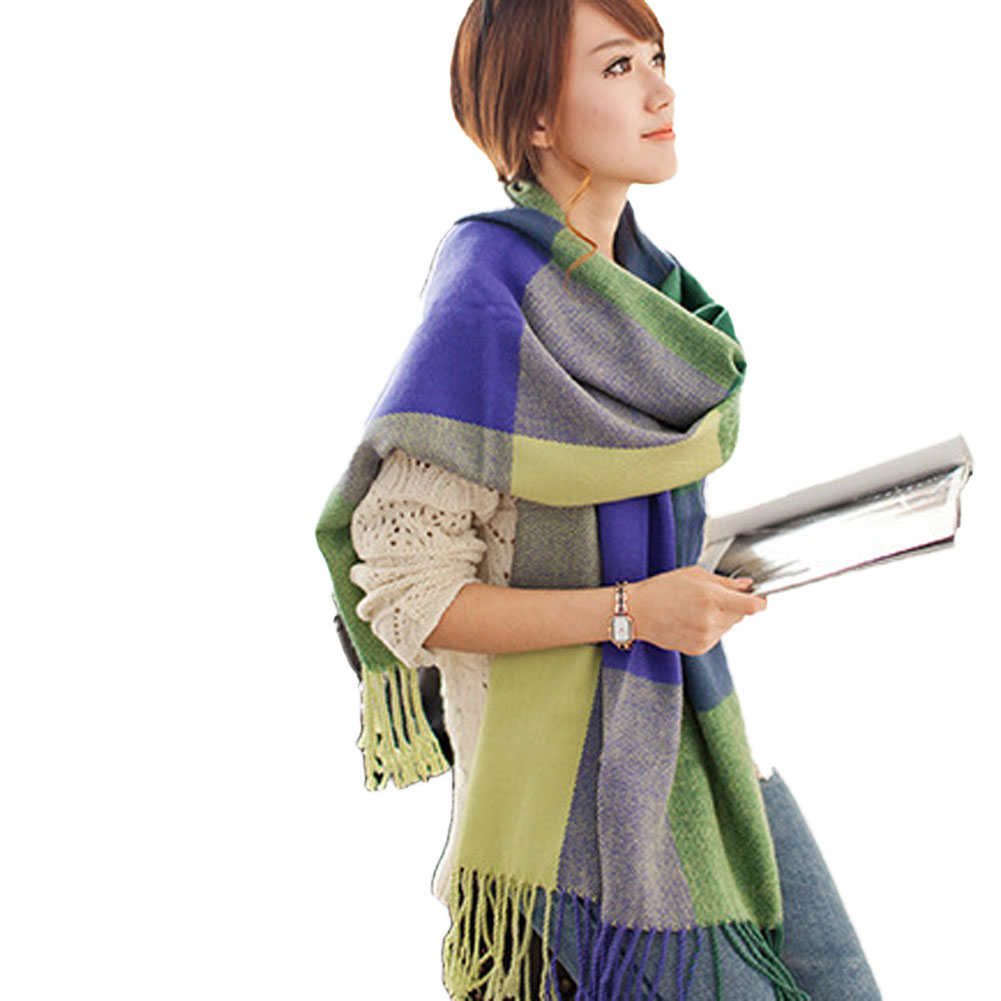New Women Triangle  Scarf Winter  Shawl  Cape Blanket Plaid Foulard Fashion Designer Imitation Cashmere  5 Colors