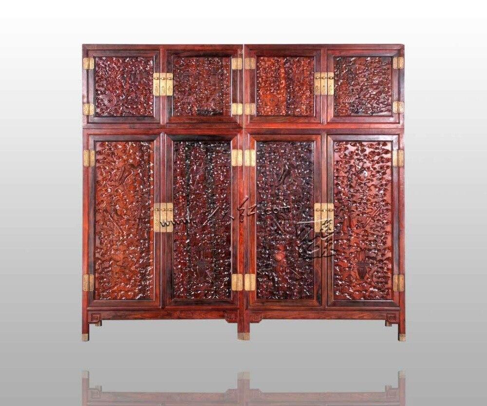 US $13057.75 5% di SCONTO|Nuovo Classico Antico stile Cinese In Legno di  Palissandro Armadio Camera Da Letto di Casa Mobili In Legno Massiccio  Piatto ...
