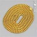 100% 24 K banhado a ouro colar 70 cm cadeia Hiphop miami cubano ligação dos eita Jay - Z homens jóias bijuteria