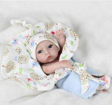 28cm Mini Reborn Baby Doll reborn silicone full body new arrival lifelike baby reborn toys for kid's birthday gift BeBe Reborn warkings reborn