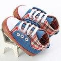 Классический Красивый Новорожденных Мальчиков Холст Обувь Первые Ходоки Мягкой Подошве Младенческой Малыша Дети Bebe Обувь Пинетки Для 0-18 М