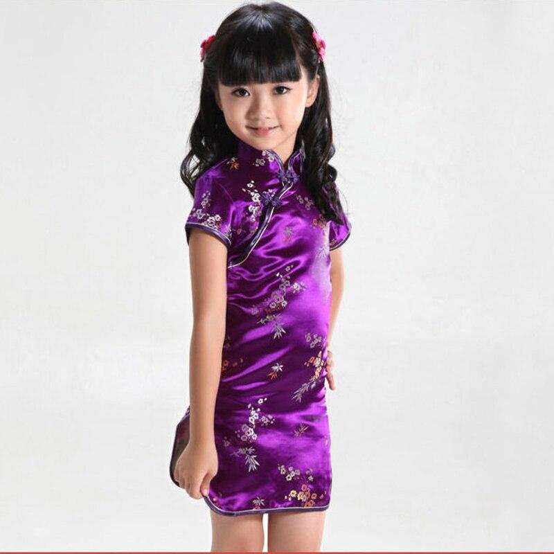 Neu Chinesische Japanische Orientalische Kinder Mädchen Qipao Cheongsam Kleid