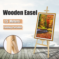 Artist Wooden Easel Wood Wedding Table Card Stand Advertising Display Holder For Party Decoration 150*57cm Triange Easel
