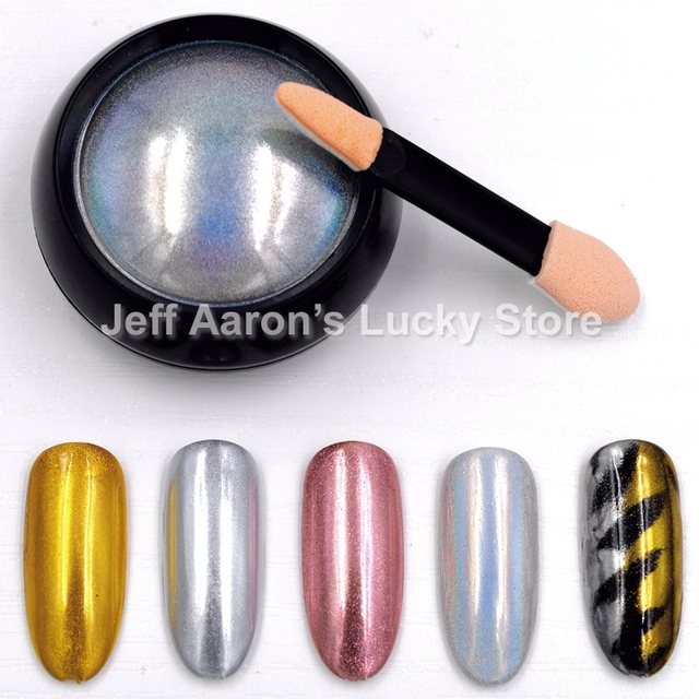 Aliexpress.com : Buy Rose Gold Silver Acrylic Nail Art Laser Mirror ...
