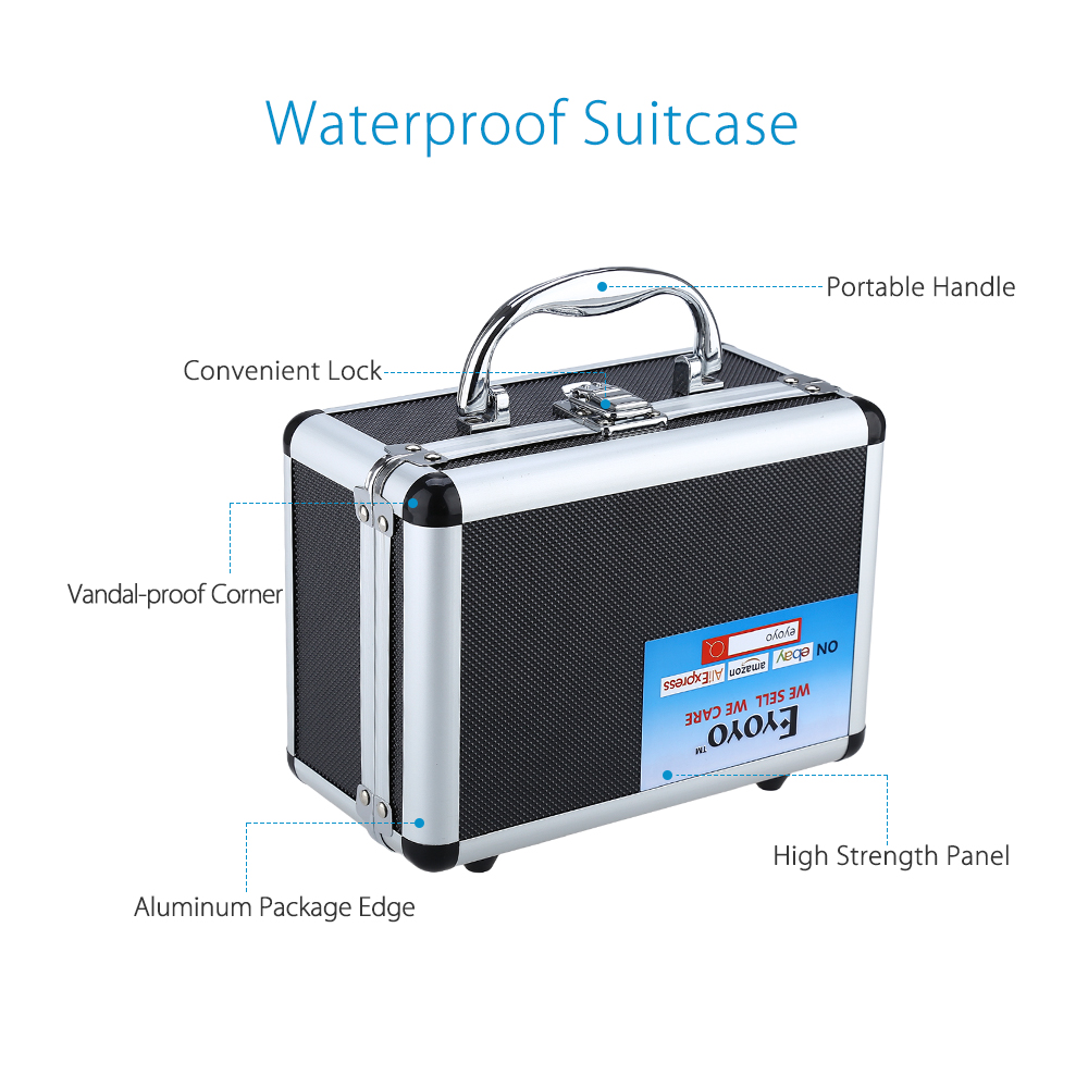 7 inch Alumilum BOX Waterproof Suitcase for Eyoyo Professional Fish Finder fishing cameras
