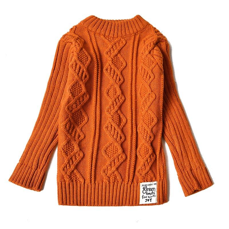 Girls Sweaters 2018 Autumn Winter warm Sweater Children Kids Knitted intersect Pullover outerwear Turtleneck Sweater