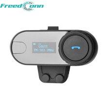1 adet BT kask Bluetooth interkom motosiklet kulaklık interkom ile LCD ekran + FM radyo için 3 Rider interkom + yumuşak kulaklık