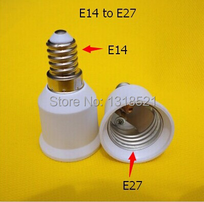 Conversion Lamp Base Wholesale! White Plastic E14 to E27 Lamp Base Converter Adapter Plug Light Spare Parts