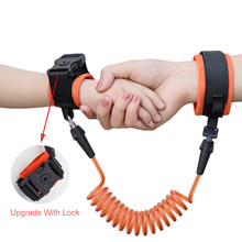 Upgrade Anti Lost Wrist Link With Key Lock Safety Leash For Children kinder tuigje Outdoor Walking Hand Belt Anti-lost Wristband