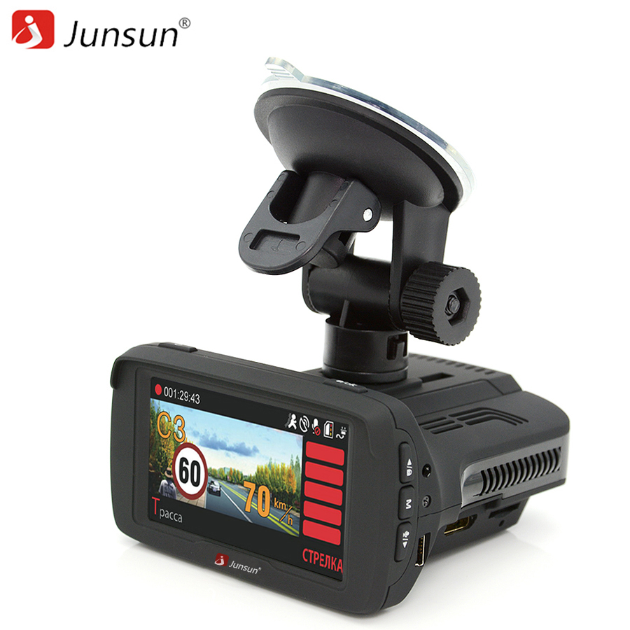 junsun 3 in 1 car dvr anti radar detector x k ka la ct ambarella a7la50 gps full hd video car. Black Bedroom Furniture Sets. Home Design Ideas