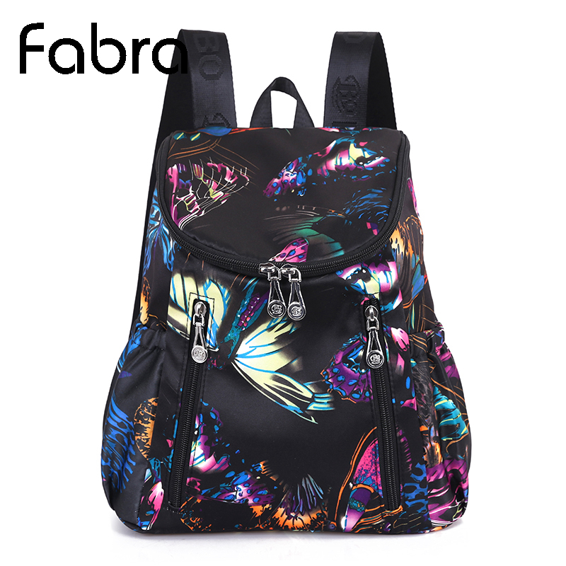 New Women Shoulder Bag Kvinne Koreansk Vanntett Oxford Cloth Bag Lady Leisure Butterfly Veske Small Backpack Pack School Tenåringer
