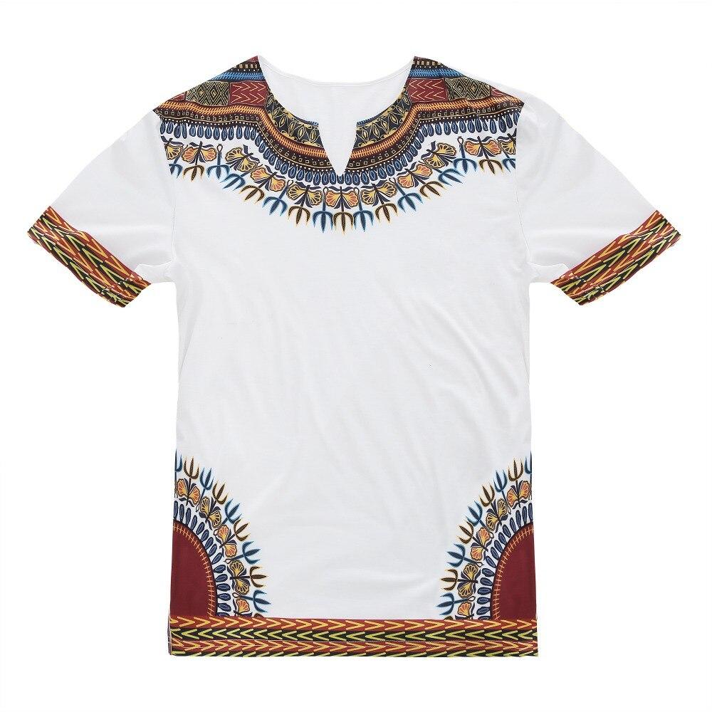 Men Black White African Dashiki Design Casual T-Shirt Ankara Outfit Short Sleeves Cotton Slit Top Clothing Crew Neck Shirt XXL
