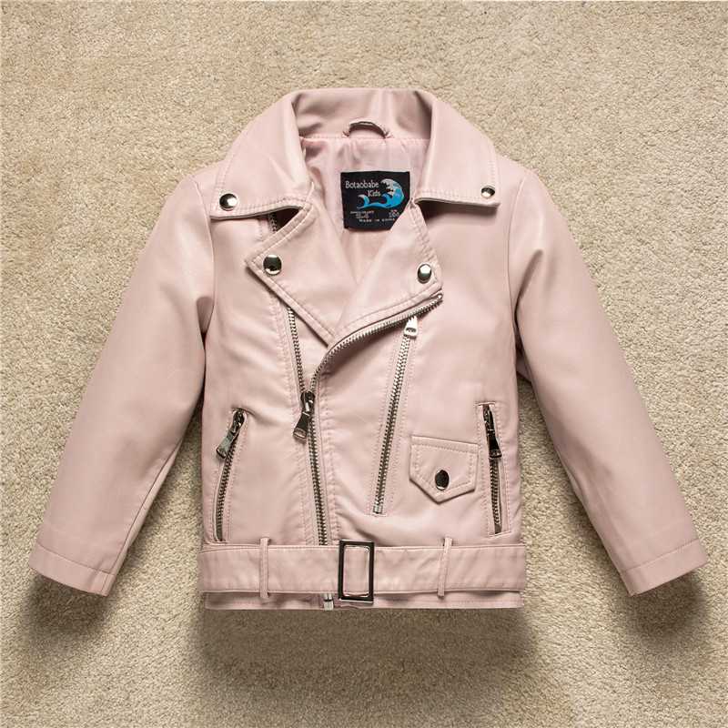 Kids Jacket 2018 Autumn Fashion Brand Design Casual Pu Leather Jackets For Girls Clothes Boys Outwear For Children Infant Coat spring autumn kids jacket pu leather boy jackets clothes children outwear for baby boys jackets 893