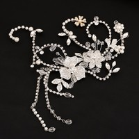 Romantic Bridal Hairpins Handmade Bride Hair Accessories vintage Wedding Headband Headpiece Jewelry For Party for women