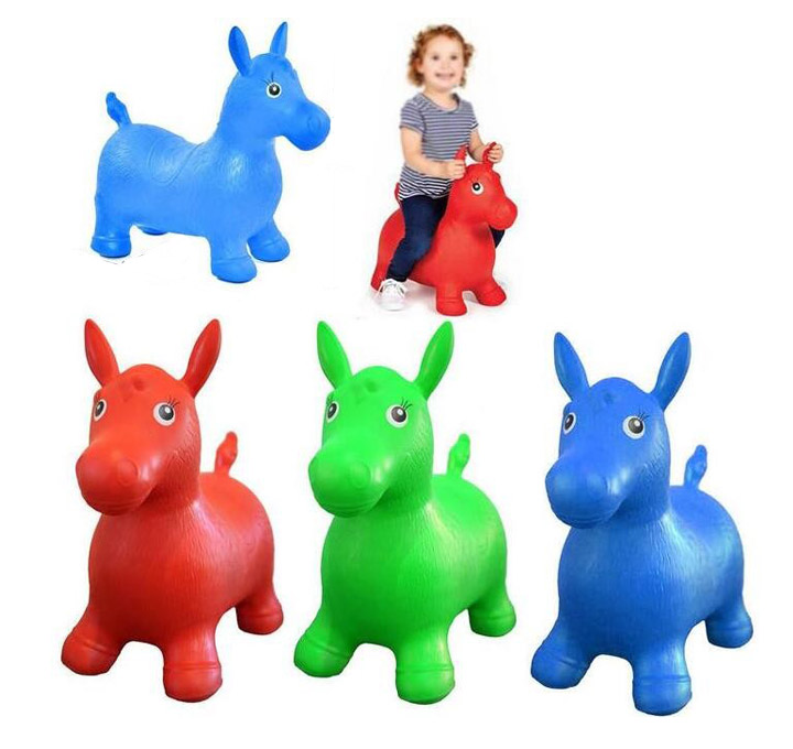Large Size Animal Space Hopper Kids Baby Inflatable Ride On Horse Toys For Children Girls Boys