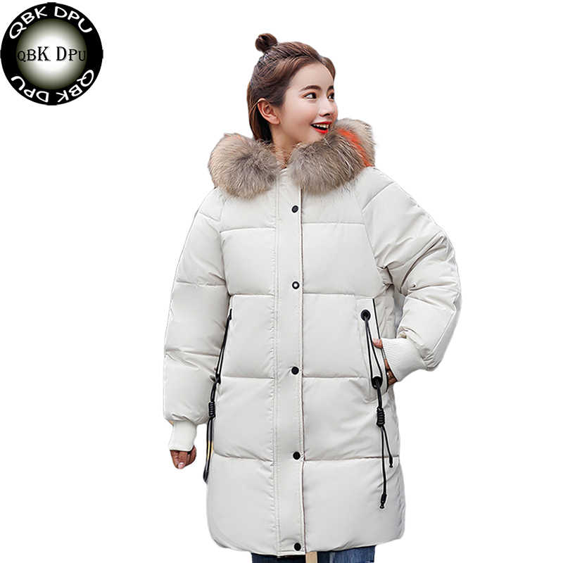 fbfa450cb Street wear plus size loose puffer jacket Winter long jacket Women Snow  wear fashion thicken parkas female warm coat overcoat