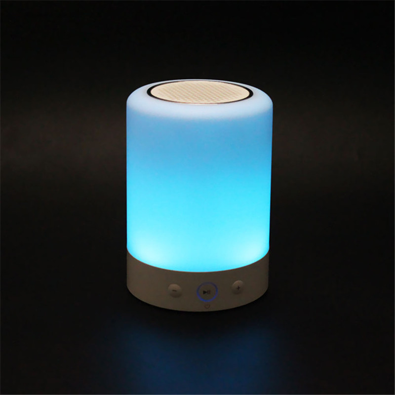 L7 Mini Portable LED Light Wireless <font><b>Bluetooth</b></font> <font><b>Speaker</b></font> Touch Dimmable Lamp with Color Handsfree FM Radio Timer column sound box