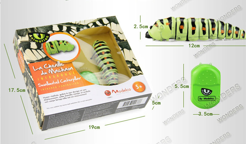 sem fio lifelike caterpillar engraçado simulação animais