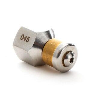 """Image 3 - ROUE Hoge Kwaliteit Hogedrukreiniger Accessoire BSP 1/4 """"Inlaat 3 Nozzle Slang Metalen Nozzle Roterende Riool Nozzle"""